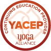 Yoga Alliance continuing education approved stamp