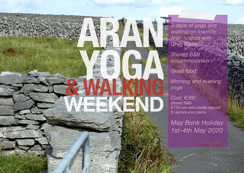 Aran yoga and walking weekend with Greg Walsh