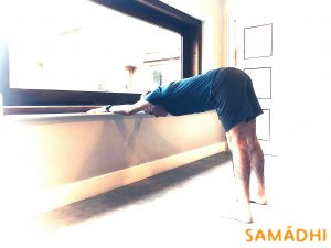 supported Adhomukha Svanasana in Samadhi yoga dublin