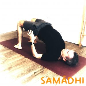 Setubandha Sarvangasana chest stretch