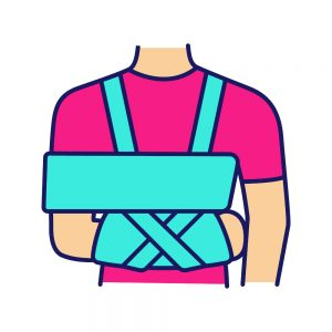 shoulder sling to immobilise