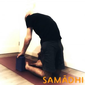 Ustrasana or camel pose, using blocks